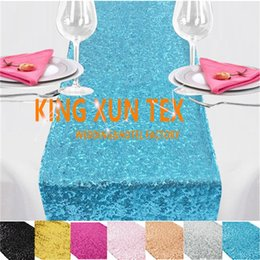 wedding table cloths wholesale Australia - Nice Looking Sequin Table Runner Fit On Table Cloth For Wedding & Event Decoration Free To Door Shipping