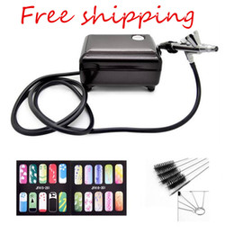 Airbrush Set Kit Pen Body Paint Makeup Spray Gun for Paint with a brush and 2 nail temples for gift