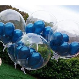 diy balloons 2019 - 18inch Clear Transparent Bubble Balloons DIY Wedding Brithday Party Decoration Christmas Eve Party Supplies discount diy