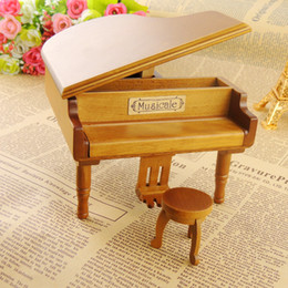 $enCountryForm.capitalKeyWord Australia - New Arrivals Wooden Piano Music Boxes Black Music Boxes with City of Sky Creative Gifts Brown
