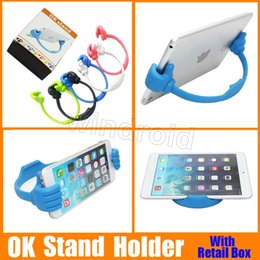 Ok stand fOr tablet online shopping - Universal The thumb OK Stand Holder For Ipad Tablet PC IPhone S Plus Samsung S3 S4 S5 Note DHL with retail box
