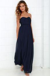 Yellow Strapless Long Maxi Dress Online | Yellow Strapless Long ...