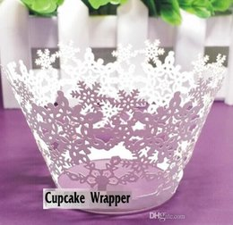 $enCountryForm.capitalKeyWord Canada - Laser Cut Snowflakes Styles Baking Cupcake Wrapper Cake Liners Decorating Boxes Cup Tools Craft Supplies For wedding party Decorations