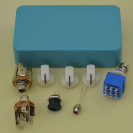 Phase Pedals Australia - 2PCS DIY Guitar Pedal Aluminum Pedals Box Foot Pedal Switch Interface knobs True LG