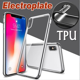 $enCountryForm.capitalKeyWord Australia - Electroplating Plating Soft TPU Silicone Ultra Slim Thin Clear Transparent Cover Case Skin For iPhone XS Max XR X 8 7 Plus 6 5 SE