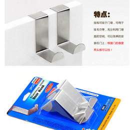 $enCountryForm.capitalKeyWord Canada - Free Shipping 2pcs set For Kitchen Hanging Hanger Holder Door Hooks Hanging Coat Cloth Strong Stainless Steel