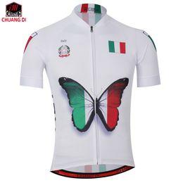 41a785e2f36 New Mens Cycling Jersey Comfortable Bike Bicycle Shirt Italian flag logo  Alien SportsWear cyclingclothing Size XS-4XL