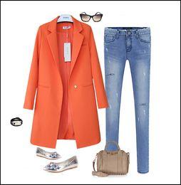 Discount Orange Blazers For Women | 2017 Orange Blazers For Women ...