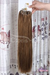 Micro loop hair extension sales online micro loop hair extension salon grade 6 chestnut brown 50g easy loop micro ring beads tipped remy human hair extensions malaysian straight 100s 05g s on sale pmusecretfo Image collections