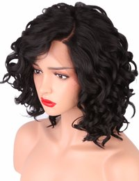 black girl lace front wigs 2019 - Short Bob Wigs For Black Women Body Wave Synthetic Lace Front Wig L Shapped With Natural Hairline For Party  Cosplay Wig