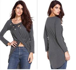 5cc5b42ed Women short front long back top online shopping - Casual Loose Bandage  Tshirts Women Irregular Front