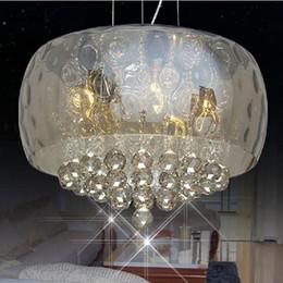 Discount modern ceiling lights for living room - Morden led TOP K9 Pendant Light 50cm 40 cm Diameter Crystal chandelier Dinning Room led ceiling Light Restaurant lamp fo