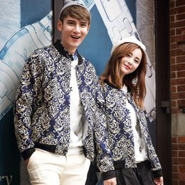 Fraîche Couple De Vêtements Pas Cher-FG1509 cool Hommes style européen Vêtements 2015 Spring Fashion Brand Casual Couple Baseball Jacket Men Jacket Chandal Hombre 3XL
