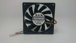 Discount sanyo cases - Brand New 109p0812h721 Sanyo 8015 dc12v 0.2A 3-p Axial Cooling Fan