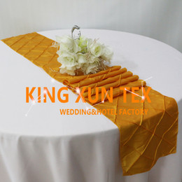 wedding table cloths wholesale Australia - Nice Looking Taffeta Pintuck Table Runner Fit On Table Cloth For Wedding And Event Decoration Free Shipping