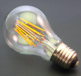 Bubble Ball Bulb Lamp Canada - Free ship Dimmable 4W LED Lamps LED filament bulb 30pcs lot led E27 B22 led bulb leb light A19 Bulb 40W replacment