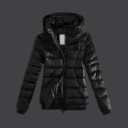 China Winter jacket women parkas Warm duck down jacket Hem cuff elastic Hooded can shrink women coat Plus size suppliers