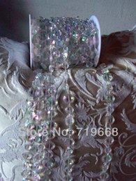 30 M / 99FT / roll10mm akrilik disk boncuklu Yanardöner kristal garland tellerinin düğün dekorasyon için avize Ücretsiz Kargo