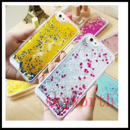 Chinese  liquid Star Glitter Quicksand clear Plastic case For Iphone 7 Plus 5S 6 6S Plus Samsung Galaxy S6 S7 edge Note 4 5 manufacturers