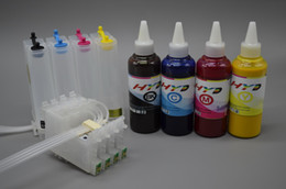 Wholesale sublimation dye resale online - Bulk Ink System BIS for Epson Stylus C88 Set of color dye sublimation ink