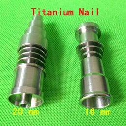 Titanium Domeless Nail 16mm Canada - Universal Domeless Titanium Nail Titanium nail domeless Direct inject design fits both 20mm male glass joints 16mm male glass Nail