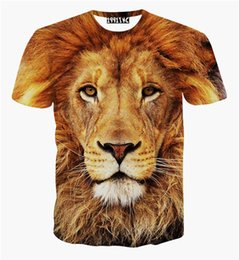 Chinese  New fashion animal print lion 3d t shirt tiger leopard 3d shirts top for women men plus size causal tee manufacturers