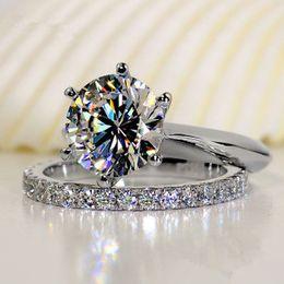 $enCountryForm.capitalKeyWord Australia - Luxury quality 2 CT SONA synthetic diamond wedding ring set,bridal set, engagement ring set for women,Wholesale Drop Shipping