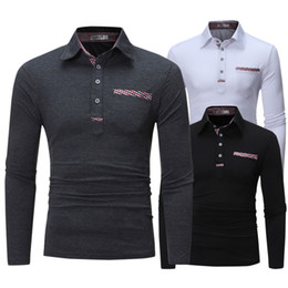 Wholesale long sleeve polo for men for sale – custom Hot selling New Autumn Polo Shirt For Men Casual Slim Fit long sleeve Clothing Polos UK Stylish T shirts