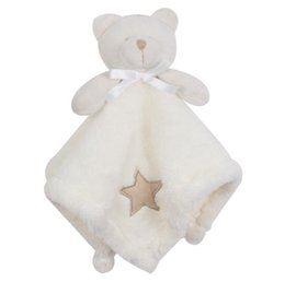 bear dolls UK - 1Pcs set Cute Bear Newborn Blankie Of Baby Toys Infant Soothe Towel Newborn Baby Gift To Soothe Towel Educational Plush Toys