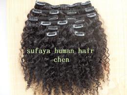 Clip Hair Black Australia - new star brazilian human hair extensions curly clip in hair weaves natural black color 9 pcs one bundle set