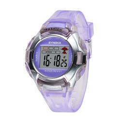Wholesale Plastic Watch Bands UK - Hot Sale Casual Digital Sports Kids Watches Electronic PU Plastics Band Waterproof Wrist Watch For Children Christmas Gifts 99329
