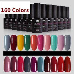 Parte Superior De La Base Baratos-LED UV Base Top Coat 160 Colos 12ML Soak Off Gel de uñas Harmony Gelish Nail Polish