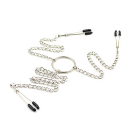 chain sm sex Australia - Steel Nipple & clitoris (3 points) Clip Clamps Breast clitoris Flirt SM Bondage Metal Nipple Chain Chained Sex Toys Women Female Sex Toys SM