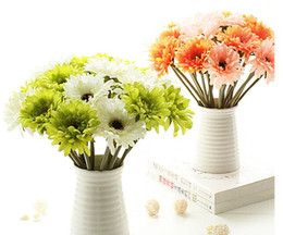 pink gerbera flower Australia - 20pcs artificial silk gerbera chrysanthemi flower chrysan home and party decorative flowers festive and party hot sell free shipping