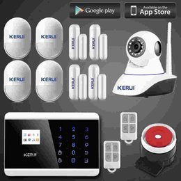 Android Home Security System Canada - LS111- Android IOS Wireless GSM SMS Home Alarm Security System Auto Dialer Wifi IP Camera alarm system+Door open sensor anti pet pir