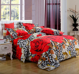 3d 4pc Quilt Bedding Set Canada - Wholesale-New 3D Bedding sets bedclothes bed sets quilt cover 4pc( Duvet Cover Bed sheet 2 Pillowcase) Queen size Free Shipping