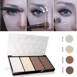neutral concealer face 2019 - New Professional 4 Colors Concealer bronze Camouflage Makeup Neutral Palette Primer Contour Facial Shadow Highlighter V