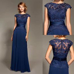 $enCountryForm.capitalKeyWord Canada - Navy Jewel Mothers Dresses Lace Top Covered Buttons A line Chiffon Hot Floor Length Formal Mother Evening Gowns Custom made Plus Size