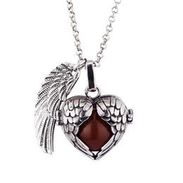 Bola Bell online shopping - Hot pregnancy necklace Harmony bola pendant necklaces Double wing silver gold wishing bell pendant necklace gifts Baby Angel caller