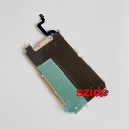 """Chinese  50pcs lot Original New LCD Metal Backplate Shield + Home Extend Flex Cable for iPhone 6 4.7"""" Wholesale manufacturers"""