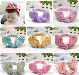 $enCountryForm.capitalKeyWord NZ - Mix colors baby headbands fashion dot square stripe printed knotted bowknot headband baby girls infant headbands baby turban cotton headband