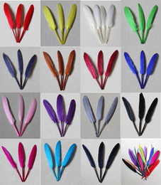 $enCountryForm.capitalKeyWord NZ - 16 Colors Goose Feathers DIY Fashion Jewelry Necklace Earring Decor Duck Feathers Wedding Party 10-15cm 4-6inch