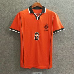 Classic 1998 world cup Netherlands retro soccer jerseys holland football  shirts soccer clothing custom name number BERGKAMP 8 top aaa quaity edf6e5fbc