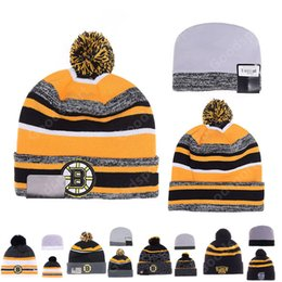 Sombreros Al Por Mayor Del Sombrero Del Snapback Baratos-BOSTON BRUINS Sport KNIT B Baseball Club Gorros Snapback Hat Rizzo Caps Gorro Popular Venta al por mayor Sombreros Regalo presente
