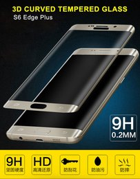 $enCountryForm.capitalKeyWord Canada - 0.2MM 3D front tempered glass For Samsung Galaxy S6 Edge Plus Full Cover Curved Side Tempered Glass Screen Protector Explosion Proof Retail