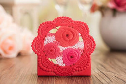 $enCountryForm.capitalKeyWord NZ - Romantic Lace Wedding Gift Box Elegant pink  red Luxury Decoration Laser Cut Party Sweet Favors Guest Gift Wedding Paper Candy Boxs THZ169