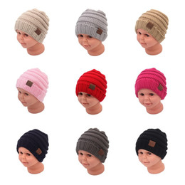 China Fashion Baby Winter Hats Kids Knitted Hat CC Label Infant Newborn Beanie Children Boys Girls Winter Outdoor Warm Wool Knitting Hats Caps 901 cheap knit infant hats suppliers