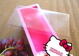 Silikon-Gummirot der klassischen Seifenform 100% Nahrungsmittelgrad rote und blaue Farbe 60pcs / lot schnelle Lieferung XZ-M001 im Angebot