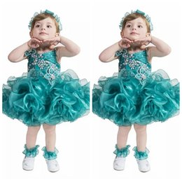 Robe Cupcake Baby Boy Girl Pas Cher-Mignon 2018 Spaghetti Organza Cascading Ruffles Filles Pageant Cupcake Robes Infant Tutu Robes Toddler Bébé Filles D'anniversaire Party Robes