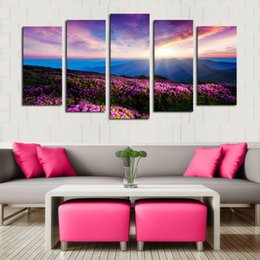 $enCountryForm.capitalKeyWord NZ - 5 Panel Fancy Landscape Frameless Painting Wall Art Canvas Painting Pictures for Home Decoration Free Shipping